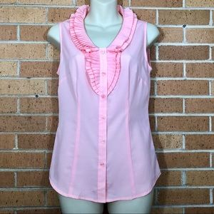 The Limited Sleeveless Blouse Sz XS Pink